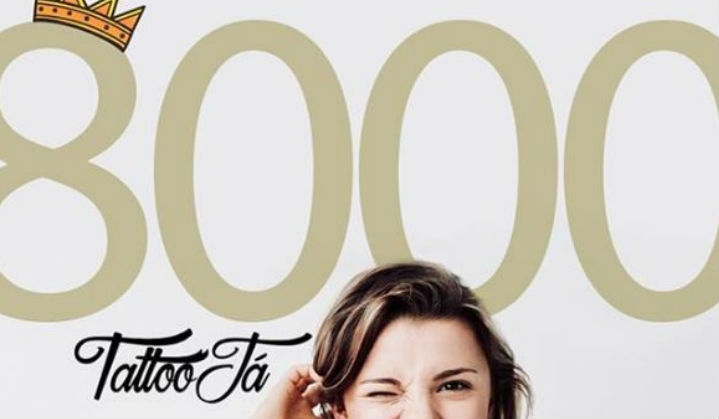 8000 Seguidores no Instagram do Tattoo Ja - Obrigado a Todos