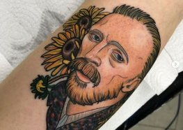 Incríveis Tattoos do Autorretrato de van Gogh