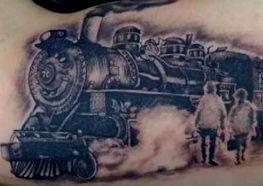 Inspiradoras Tatuagens de Trem
