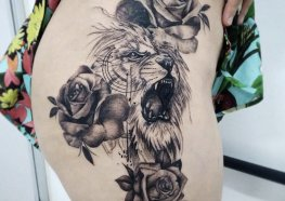 Tattoo no quadril