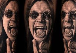 Tattoo Realismo - O dia que Ozzy arrancou a cabeça de um pombo com a boca