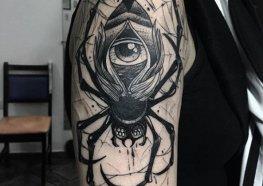 Tatuagem de Aranha: Significado, Ideias e Tattoos para inspirar