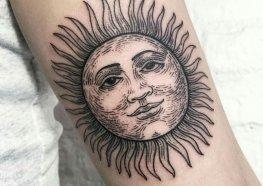 Tatuagem do Sol: Significados, Ideias e Designes