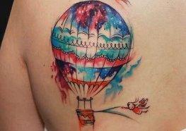 Tatuagens de Balão de Ar Quente Significados e Exemplos