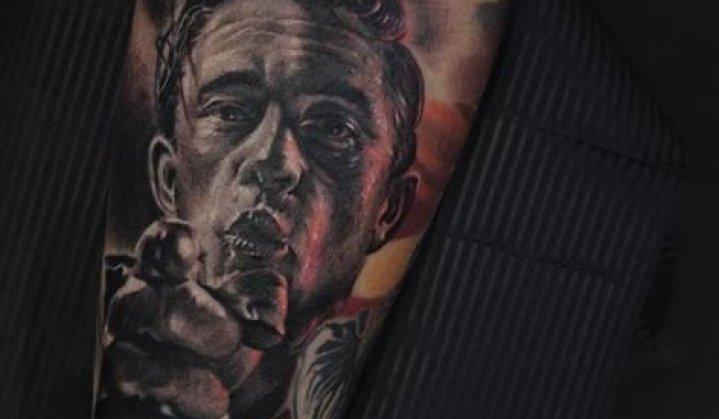 Tatuagens de Johnny Cash: O Homem de Preto