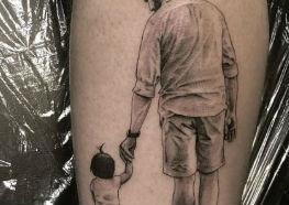 Tatuagens de Pais - Idéias e muita criatividade para você e seu pai