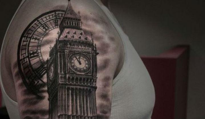 Tatuagens do Big Ben em Comemoração a sua Primeira Badalada