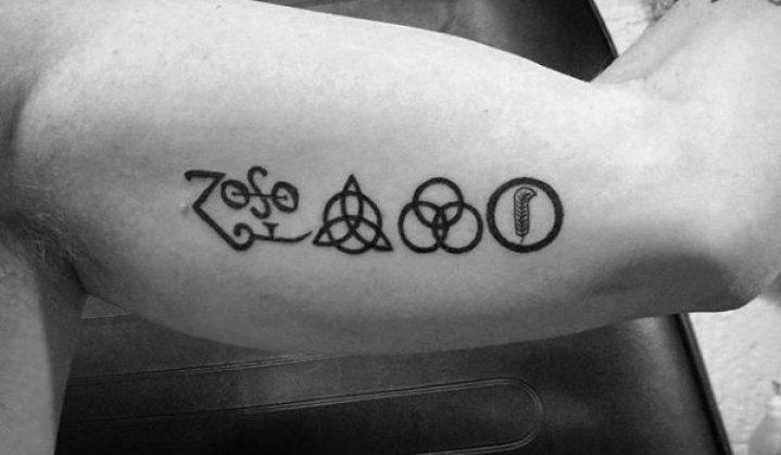 Tatuagens dos Símbolos de Led Zeppelin 4
