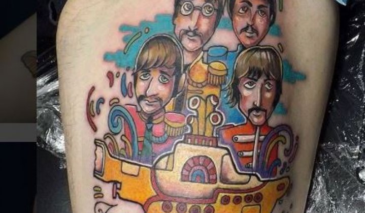 Tatuagens Lindas do Yellow Submarine dos Beatles