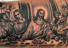 Tatuagens Sensacionais da Última Ceia de Leonardo da Vinci