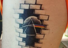 Tatuagens do The Dark Side Of The Moon do Pink Flyd